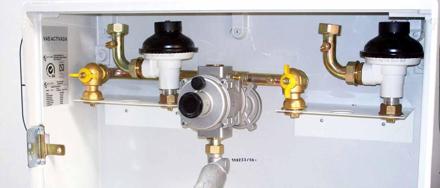 Armario de regulación de gas
